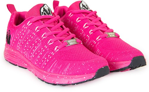 Brooklyn Knitted Sneakers - Pink/White-2