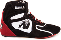 """Chicago High Tops - Black/White/Red Limited"""""""" """""""""""