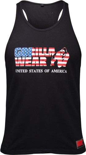 USA Tank Top Black