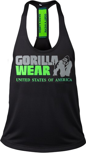 Nashville Tank Top - Black/Neon Lime
