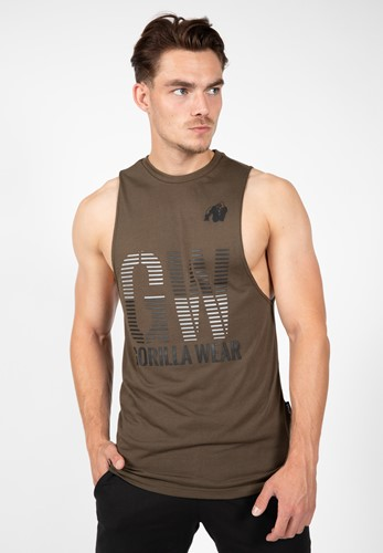 Dakota Sleeveless T-shirt - Army Green - S