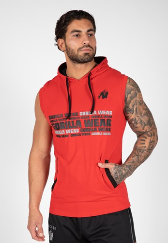 Melbourne S/L Hooded T-shirt - Red