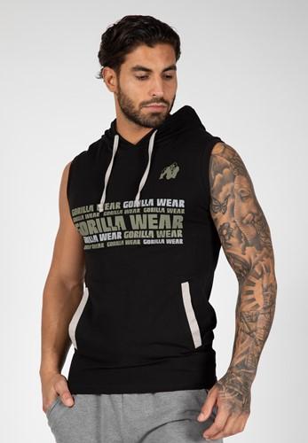 Melbourne S/L Hooded T-shirt - Black - S