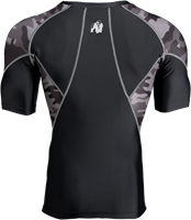 Cypress Rashguard Short Sleeves - Black/Gray Camo-2