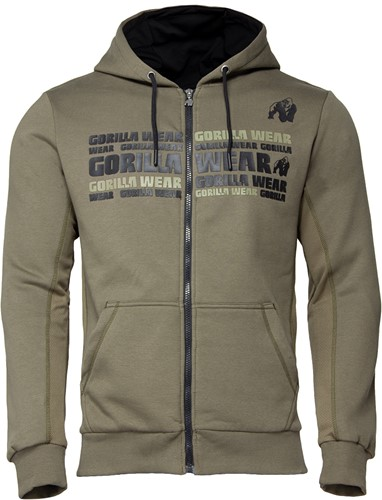 Bowie Mesh Zipped Hoodie - Army Green - 3XL
