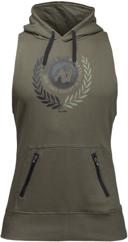Manti Sleeveless Hoodie - Army Green