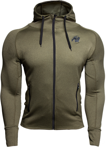 Bridgeport Zipped Hoodie - Army Green