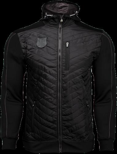 Jefferson Front Padded Jacket - Black/Gray