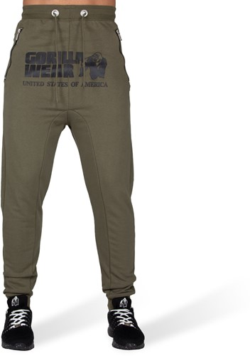 Alabama Drop Crotch Joggers - Army Green-2