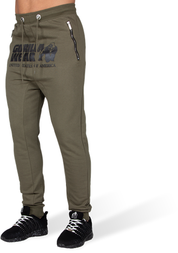 Alabama Drop Crotch Joggers - Army Green - S
