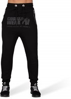 Alabama Drop Crotch Joggers - Black-2