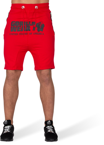 Alabama Drop Crotch Shorts - Red-2