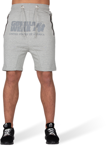 Alabama Drop Crotch Shorts - Gray-2