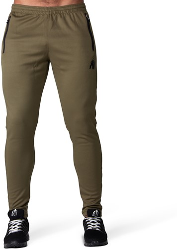 Ballinger Track Pants - Army Green/Black-3