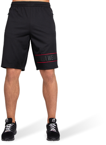 Branson Shorts - Black/Red-2