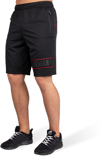 Branson Shorts - Black/Red