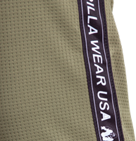 Reydon mesh pants army green close up