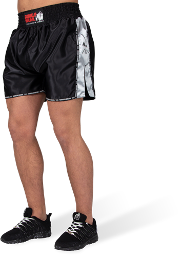 Henderson Muay Thai/Kickboxing Shorts - Black/Gray