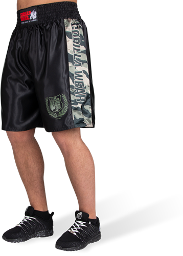 Vaiden Boxing Shorts - Army Green Camo-3