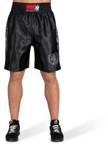 Vaiden Boxing Shorts - Black/Gray Camo