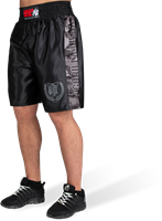 Vaiden Boxing Shorts - Black/Gray Camo-3