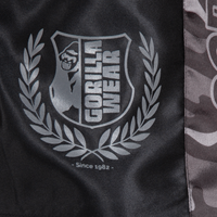 Vaiden Boxing Shorts Black Grey Details