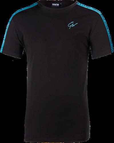 Chester T-shirt - Black/Blue