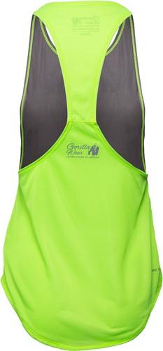 Florida Stringer Tank Top Gray/Neon Lime-2