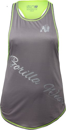 Florida Stringer Tank Top - Gray/Neon Lime - S