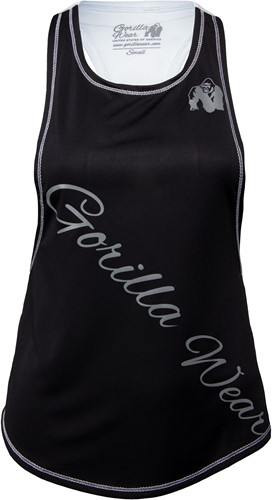 Florida Stringer Tank Top - Black/White