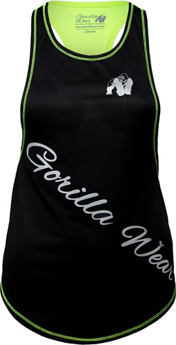 Florida Stringer Tank Top Black/Neon Lime
