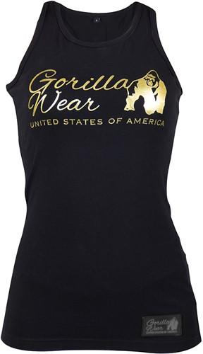 Florence Tank Top - Black/Gold-3