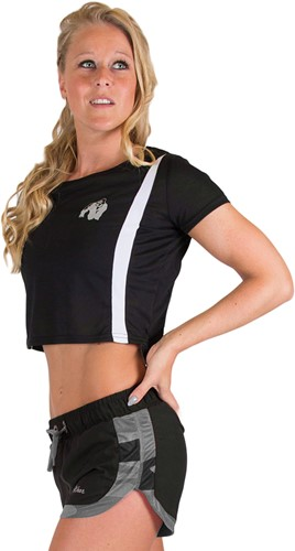Columbia Crop Top - Black/White-M