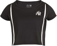 Columbia Crop Top - Black/White-2