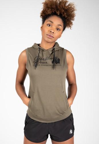 Selma Sleeveless Hoodie - Army Green