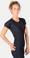 Carlin Compression Short Sleeve Top - Black/Black-3