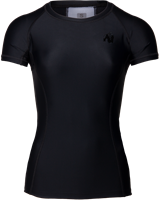 Carlin Compression Short Sleeve Top - Black/Black