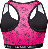 Hanna Sports Bra - Black/Pink-2