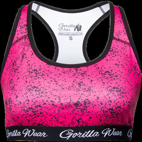 Hanna Sports Bra - Black/Pink