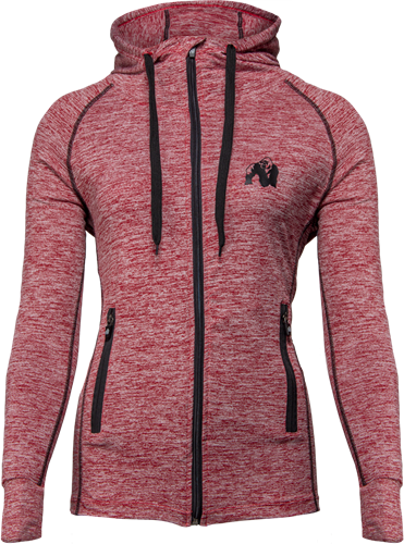 Shawnee Zipped Hoodie - Mixed Red
