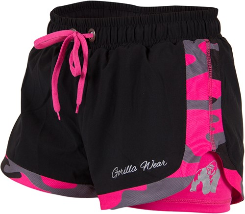 Denver Shorts Black/Pink