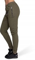 Celina Drop Crotch Joggers - Army Green-3