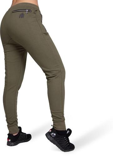 Celina Drop Crotch Joggers - Army Green-2