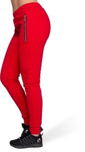 Celina Drop Crotch Joggers - Red-3