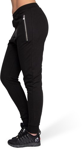 Celina Drop Crotch Joggers - Black-3
