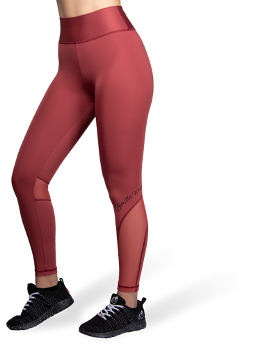 Kaycee Tights - Burgundy Red