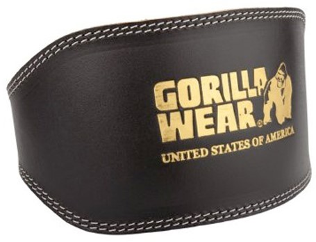 Full Leather Padded Belt Black