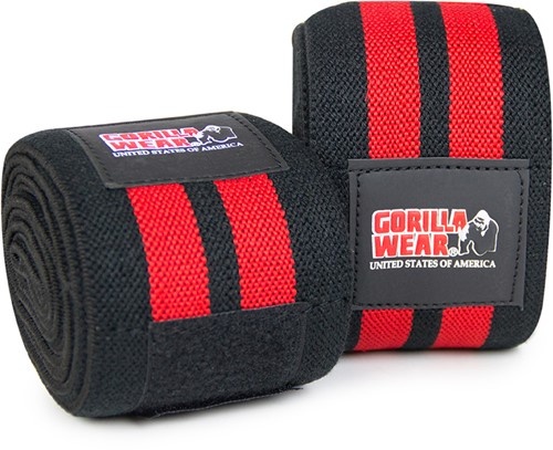 Knee Wraps 98 Inch Black/Red