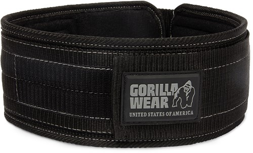 Gorilla Wear 4 Inch Nylon Belt-M/L