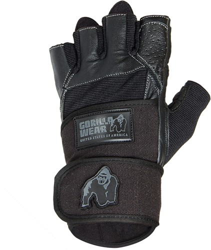 Dallas Wrist Wrap Gloves - Black